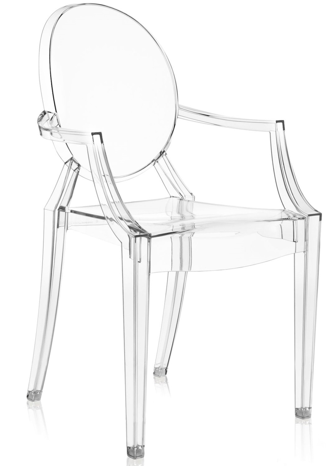 Transparante Design Stoelen.Kartell Louis Ghost Stoel Transparant