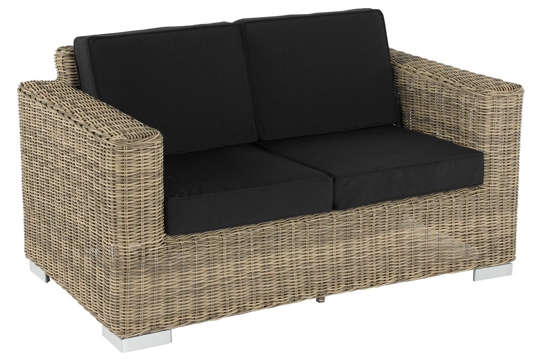 Lounge Bankje 2 Zits.Lounge Bank Lorca Xl 2 Zits Naturel Geborsteld Rond Wicker Incl