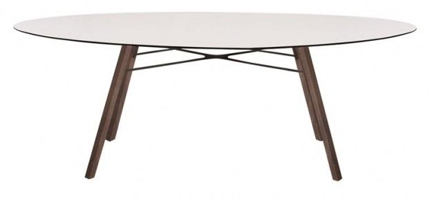 Ovalen Witte Eettafel.Papatya Wox Iroko Ellipse Eettafel Ovaal Wit